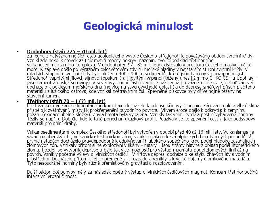 Geologická minulost