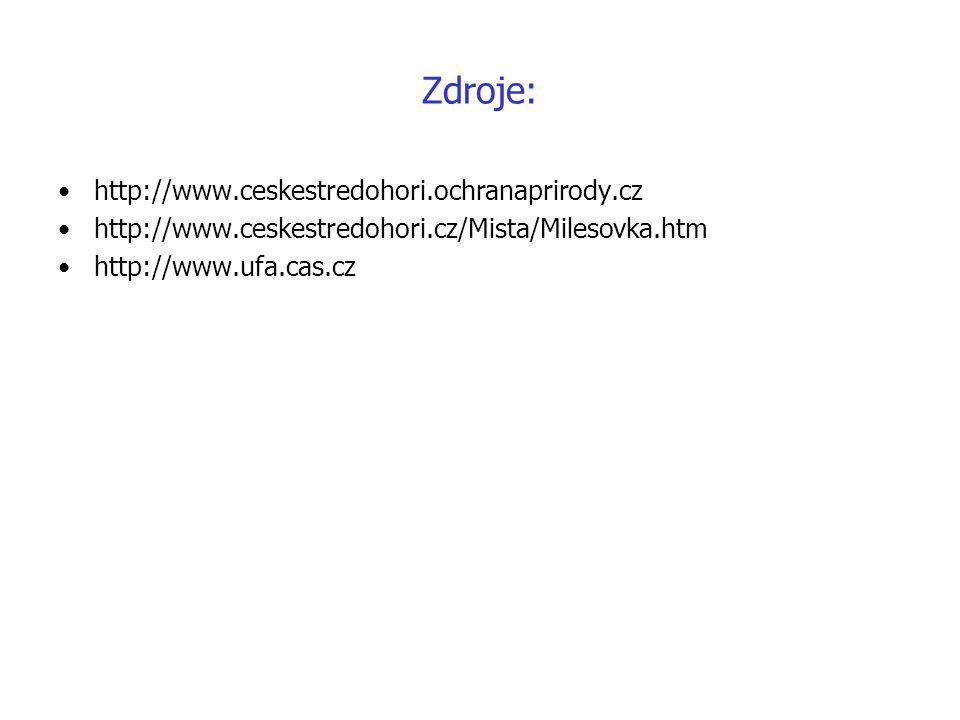 Zdroje: http://www.ceskestredohori.ochranaprirody.cz