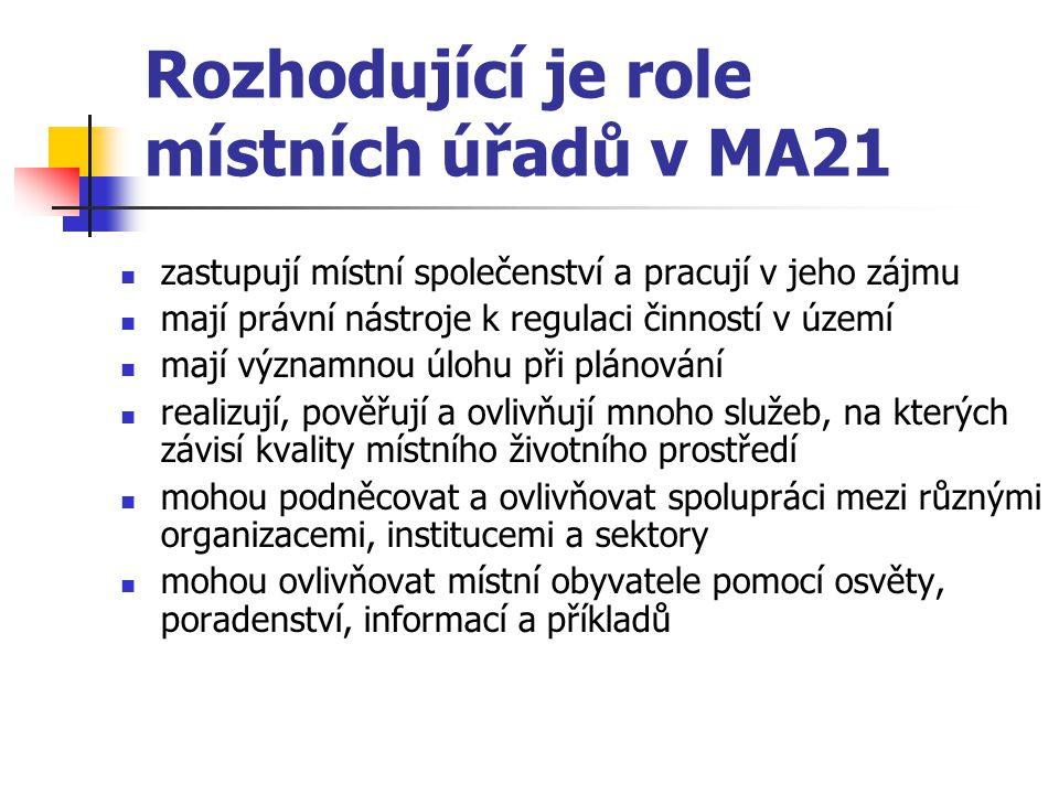 Rozhodující je role místních úřadů v MA21