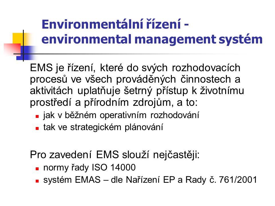 Environmentální řízení - environmental management systém