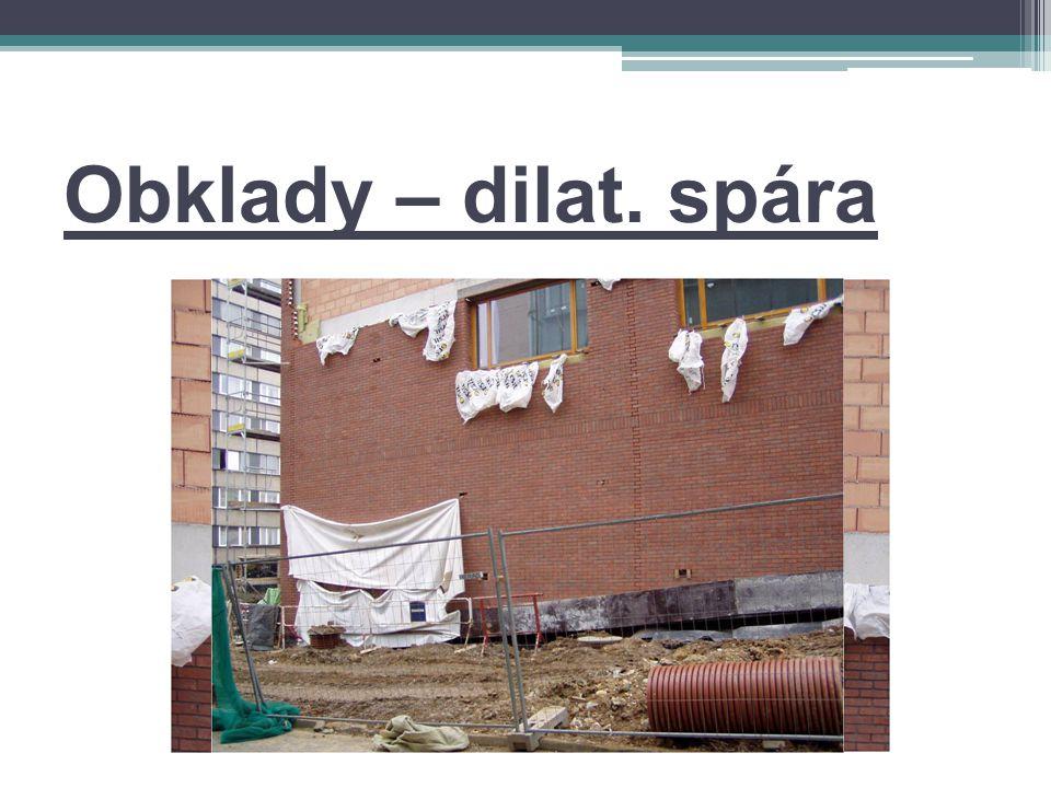 Obklady – dilat. spára
