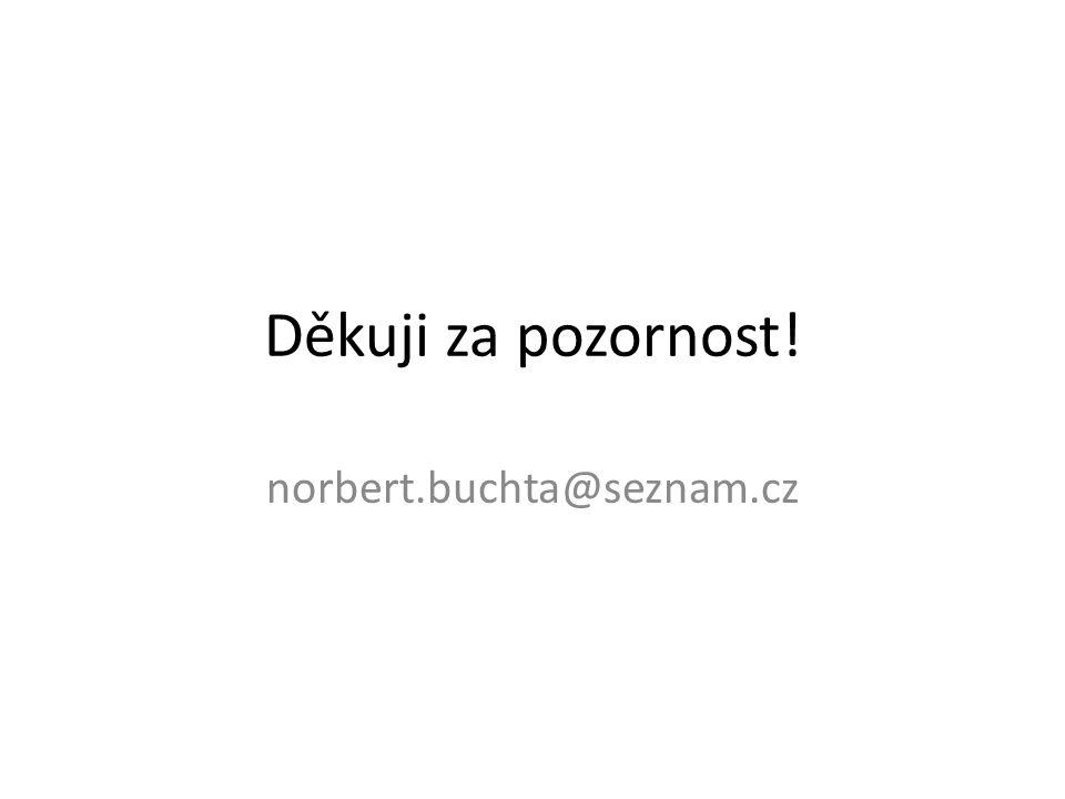 Děkuji za pozornost! norbert.buchta@seznam.cz