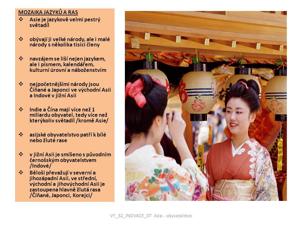 VY_32_INOVACE_07 Asie - obyvatelstvo