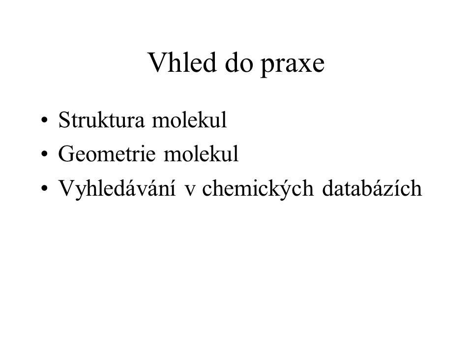 Vhled do praxe Struktura molekul Geometrie molekul