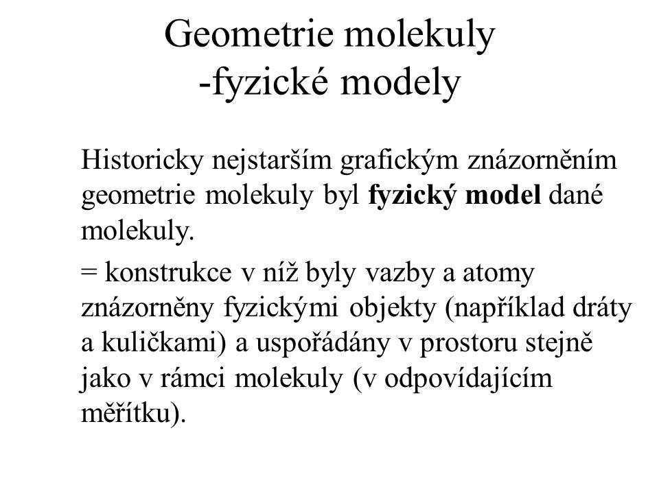 Geometrie molekuly -fyzické modely