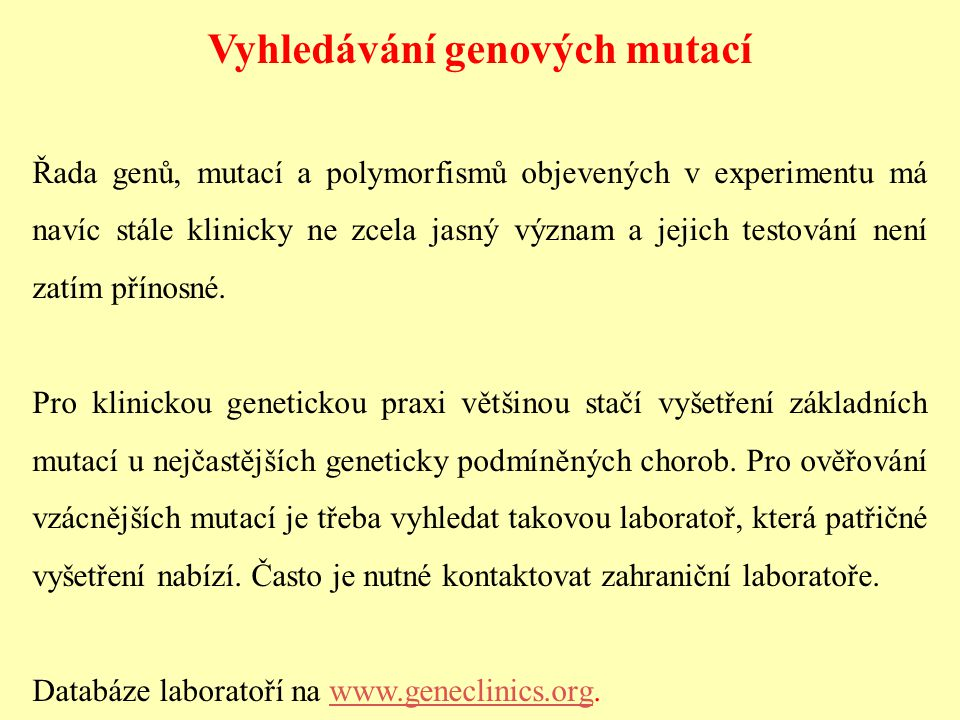 Vyhledávání genových mutací