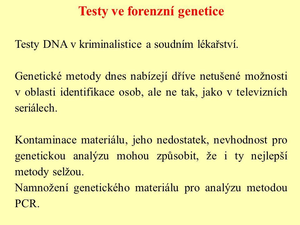 Testy ve forenzní genetice