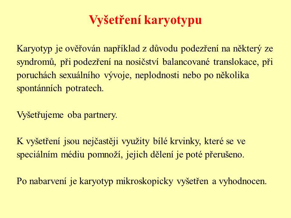 Vyšetření karyotypu