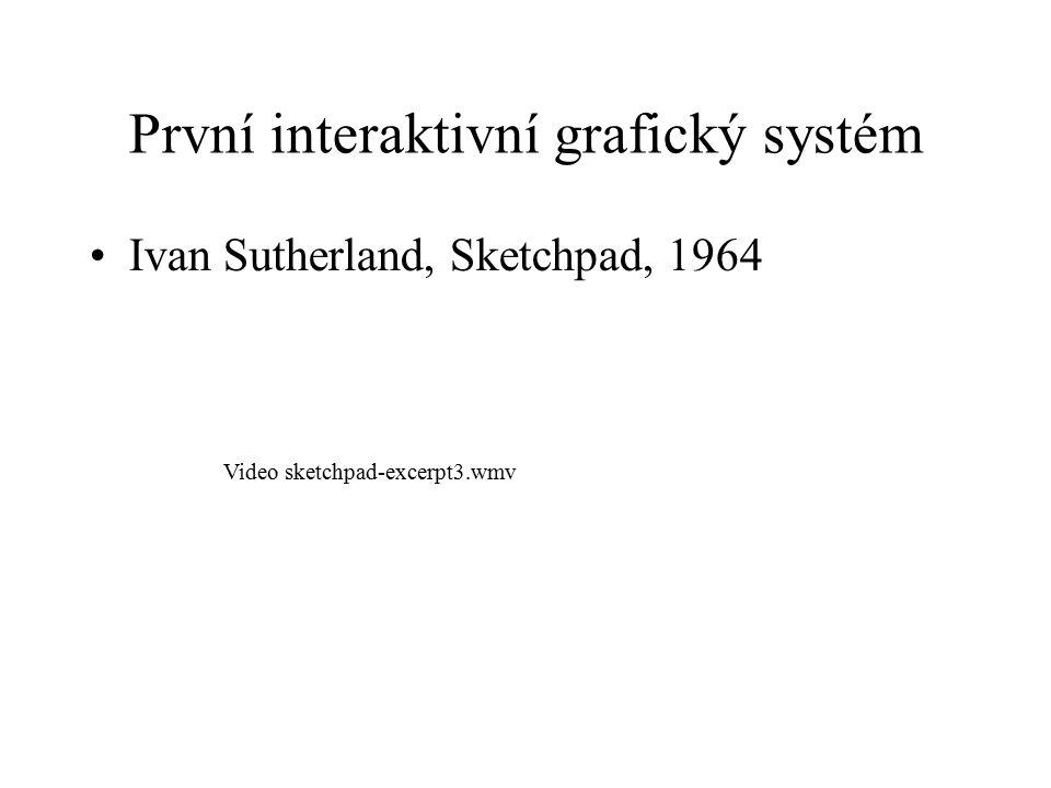 První interaktivní grafický systém