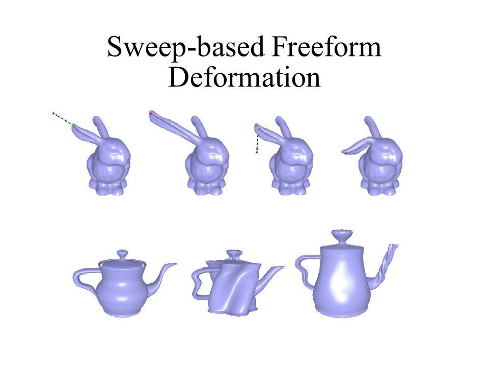 Sweep-based Freeform Deformation