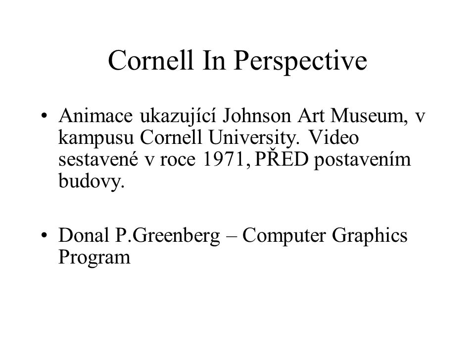Cornell In Perspective