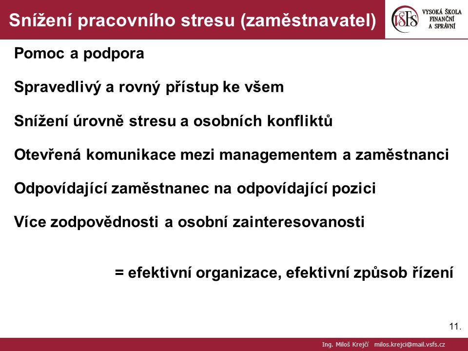 Snížení pracovního stresu (zaměstnavatel)
