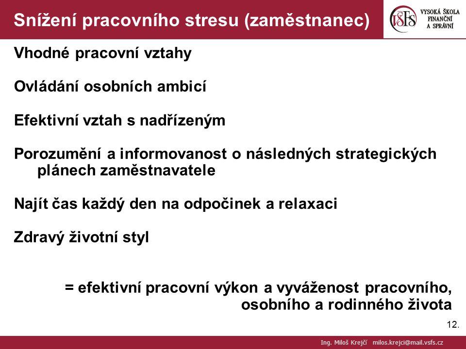 Snížení pracovního stresu (zaměstnanec)