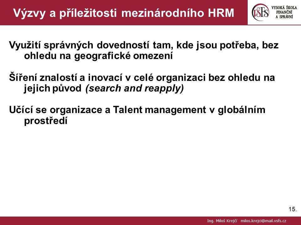 Výzvy a příležitosti mezinárodního HRM