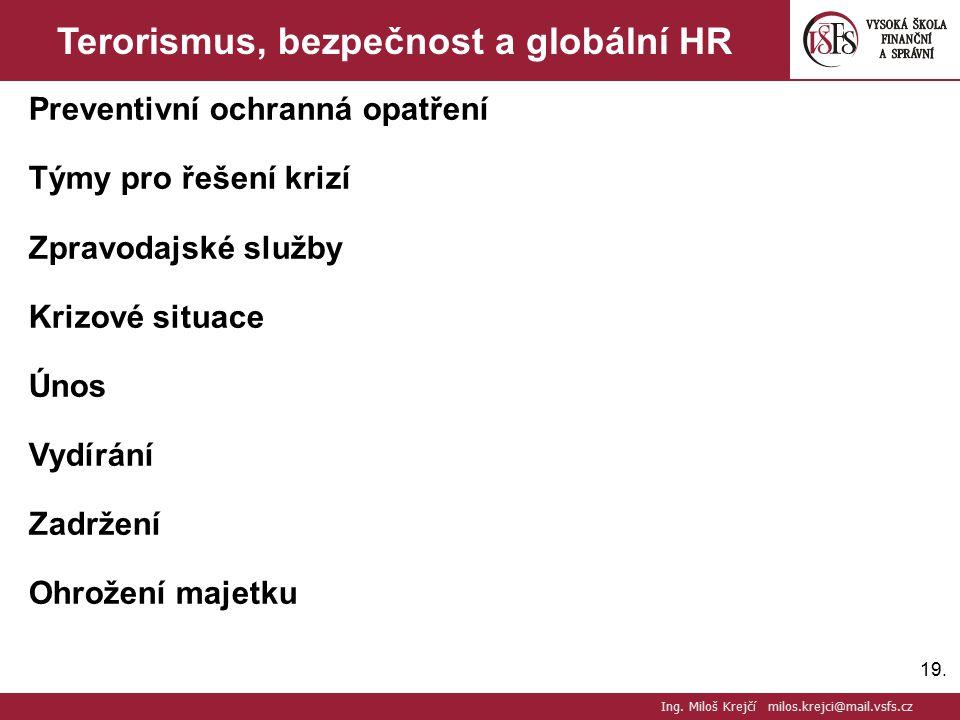 Terorismus, bezpečnost a globální HR