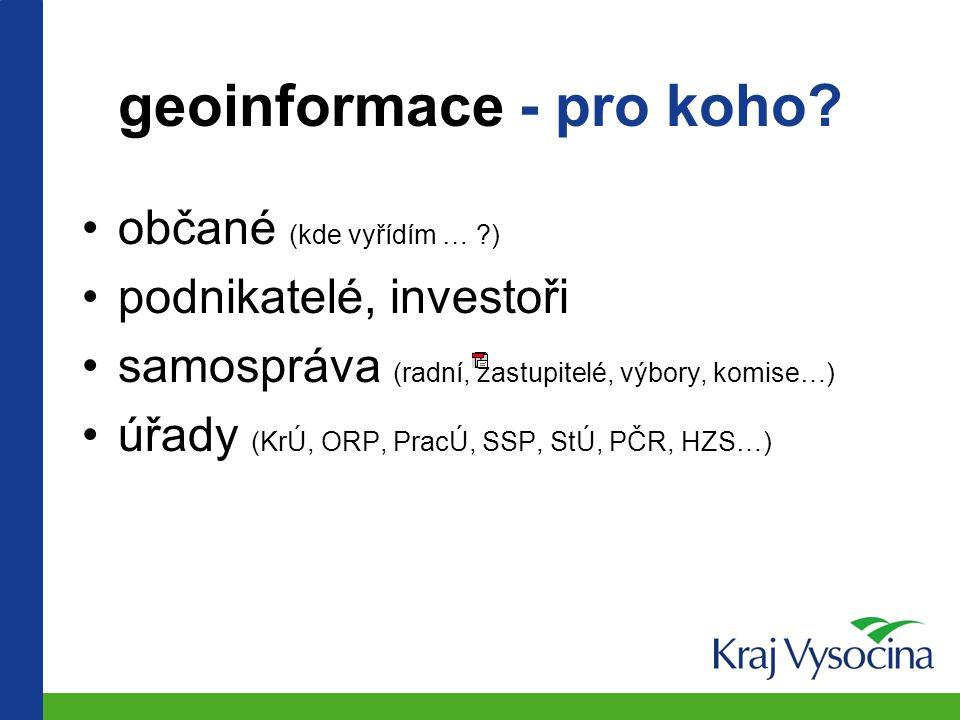 geoinformace - pro koho