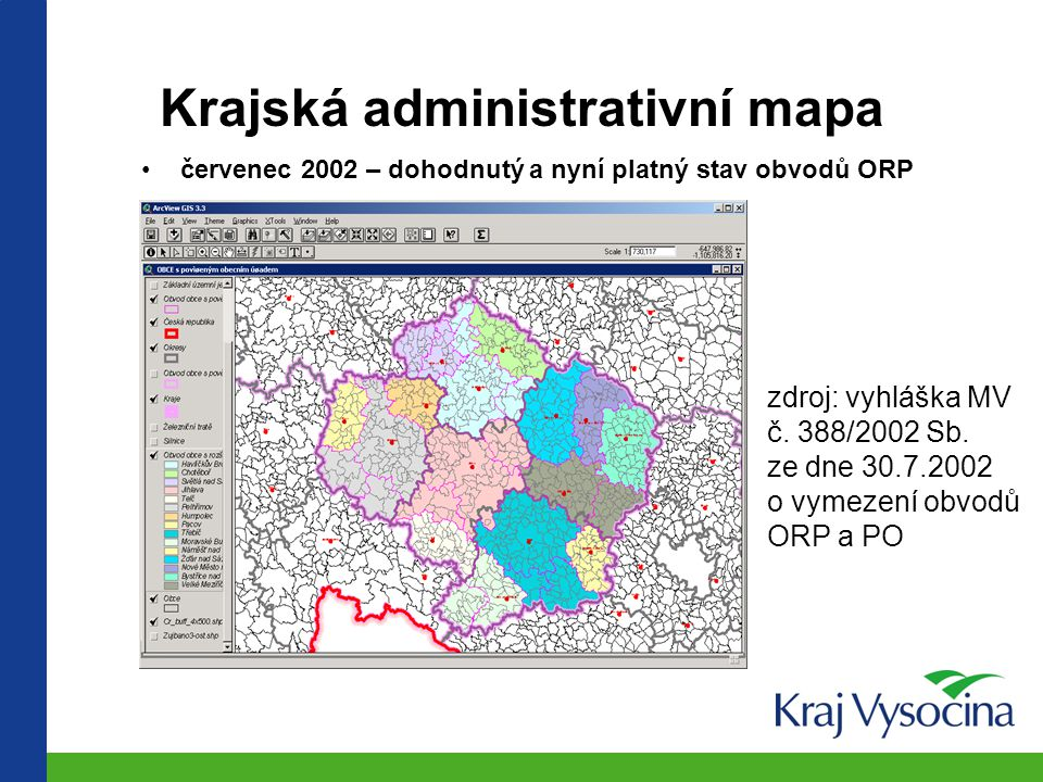 Krajská administrativní mapa