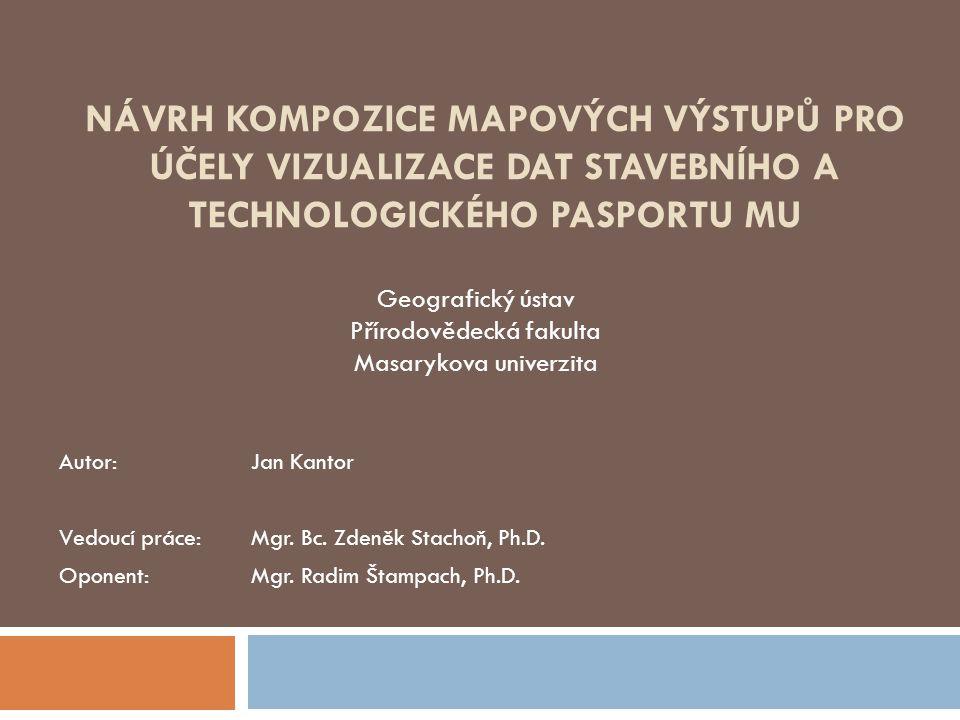 Návrh kompozice mapových výstupů pro účely vizualizace dat Stavebního a Technologického pasportu MU