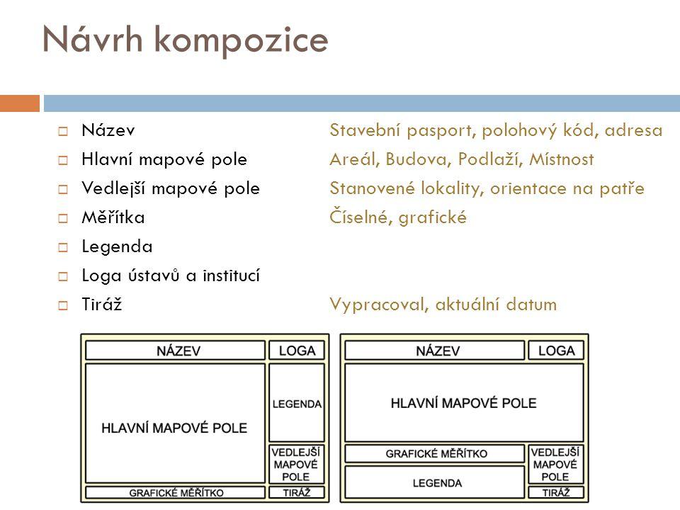 Návrh kompozice Název Stavební pasport, polohový kód, adresa