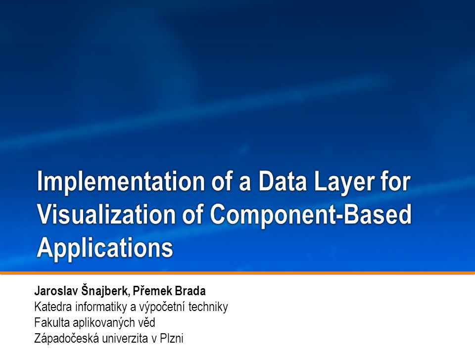 Implementation of a Data Layer for Visualization of Component-Based Applications