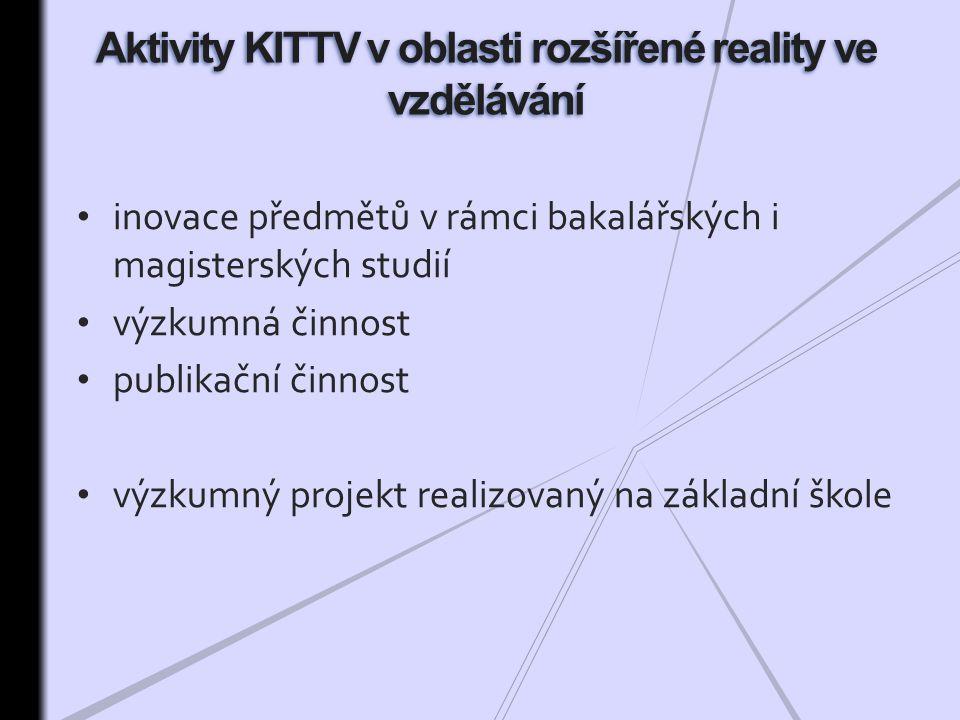 Aktivity KITTV v oblasti rozšířené reality ve vzdělávání