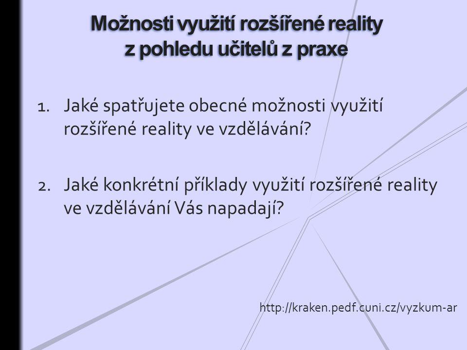 Možnosti využití rozšířené reality z pohledu učitelů z praxe