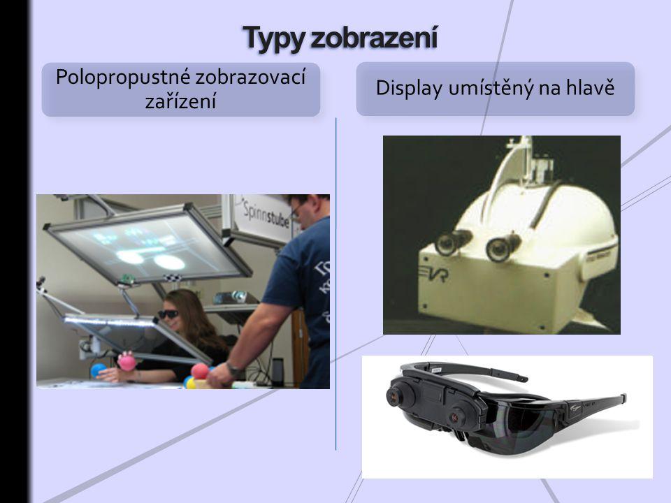 Typy zobrazení Polopropustné zobrazovací zařízení