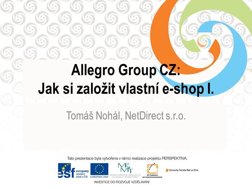 Allegro Group CZ: Jak si založit vlastní e-shop I.