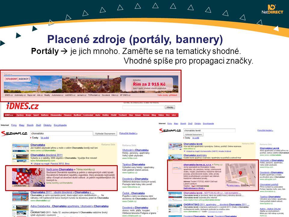 Placené zdroje (portály, bannery)