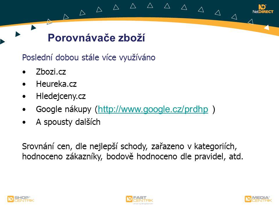 Porovnávače zboží Poslední dobou stále více využíváno Zbozi.cz