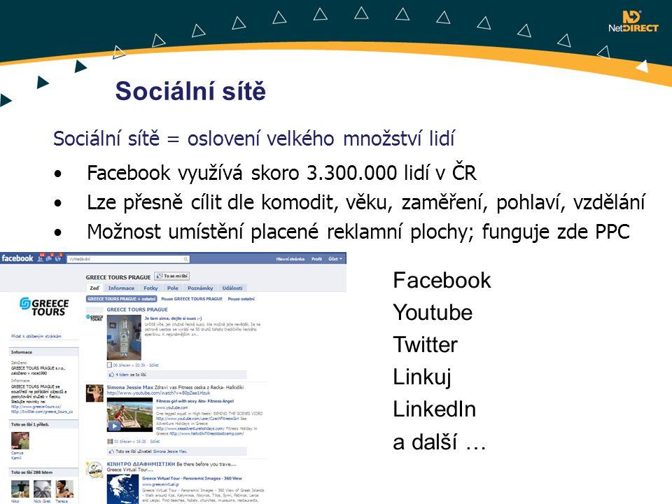 Sociální sítě Facebook Youtube Twitter Linkuj LinkedIn a další …