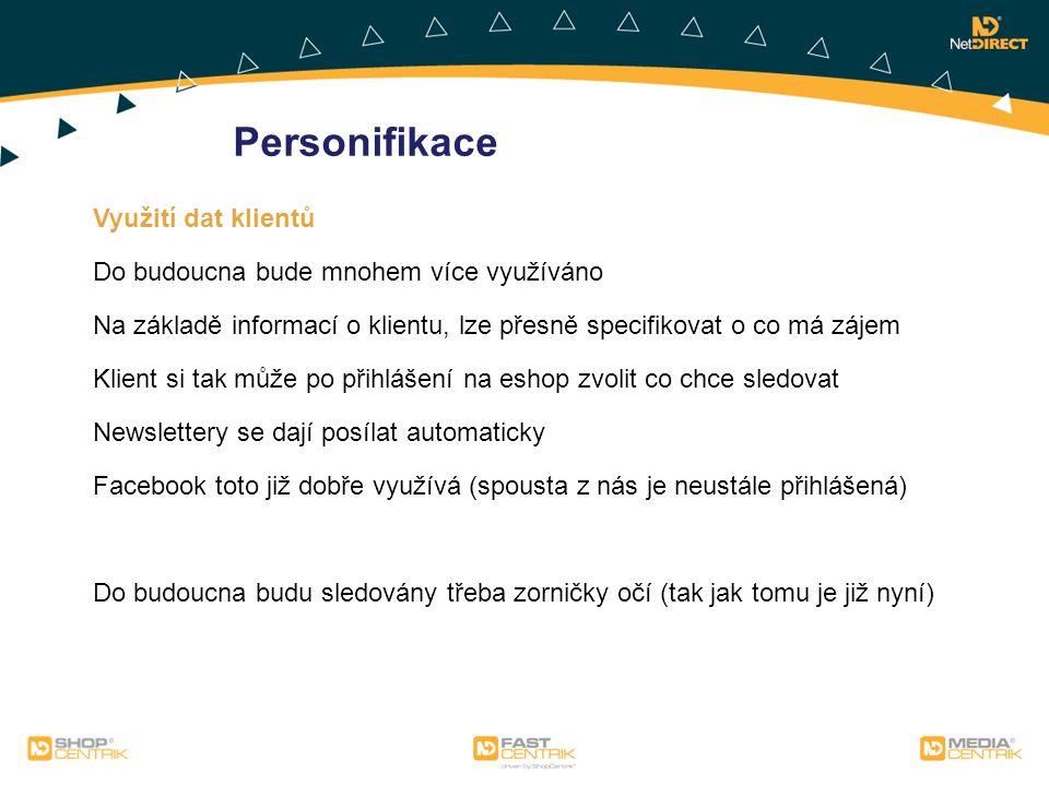 Personifikace Využití dat klientů