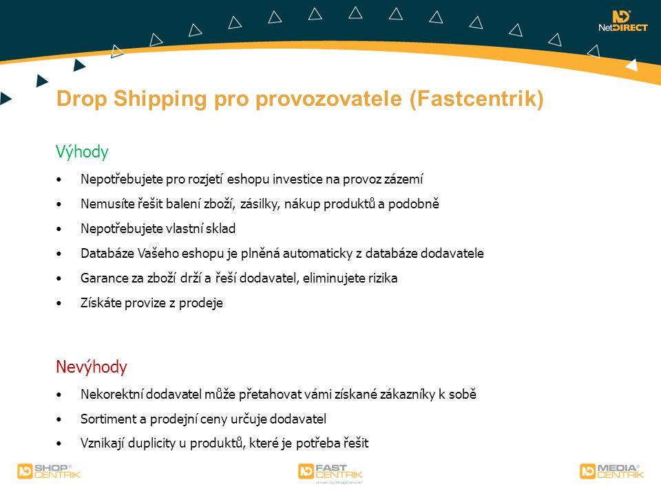 Drop Shipping pro provozovatele (Fastcentrik)