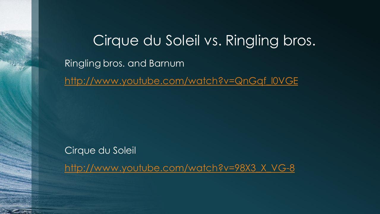 Cirque du Soleil vs. Ringling bros.