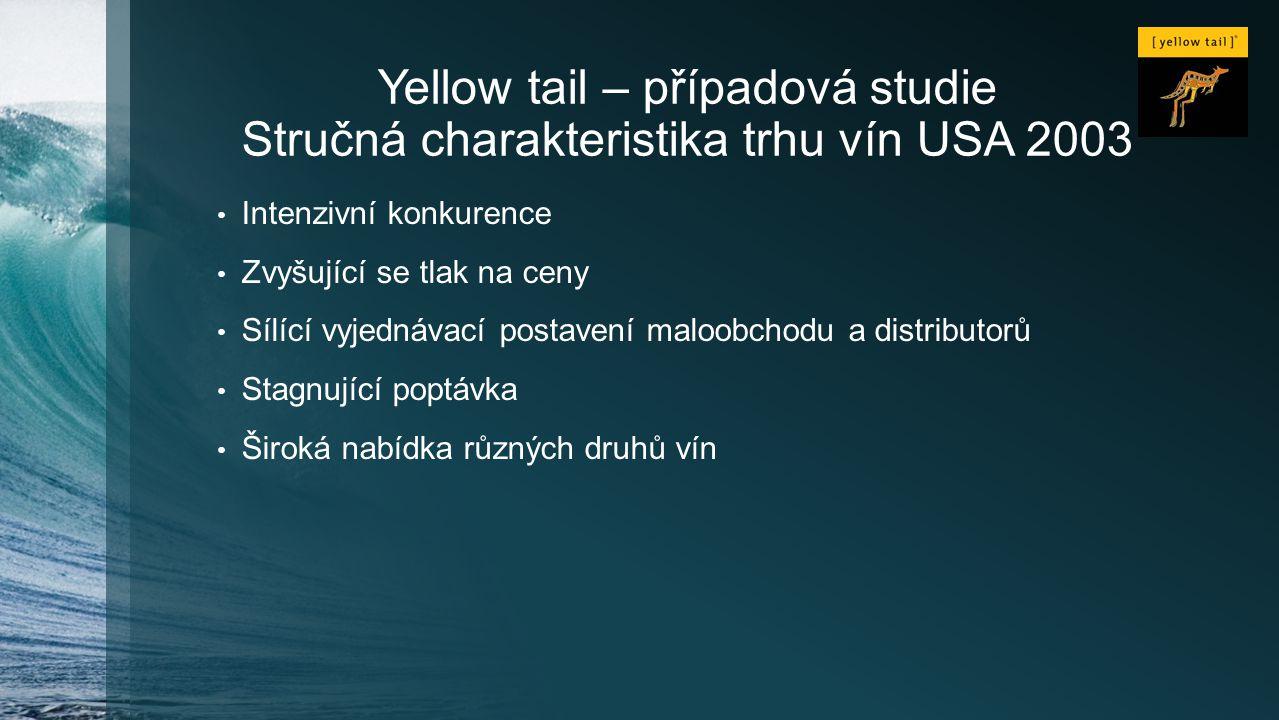 Yellow tail – případová studie Stručná charakteristika trhu vín USA 2003