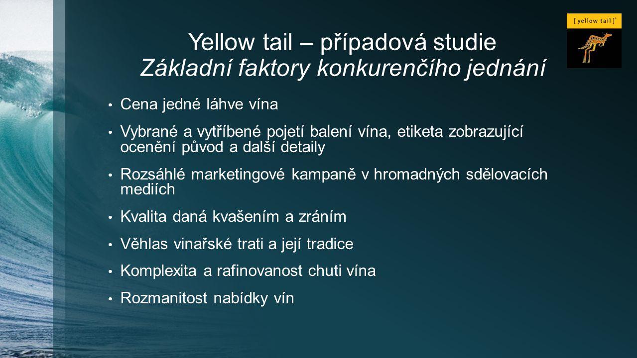 Yellow tail – případová studie Základní faktory konkurenčího jednání
