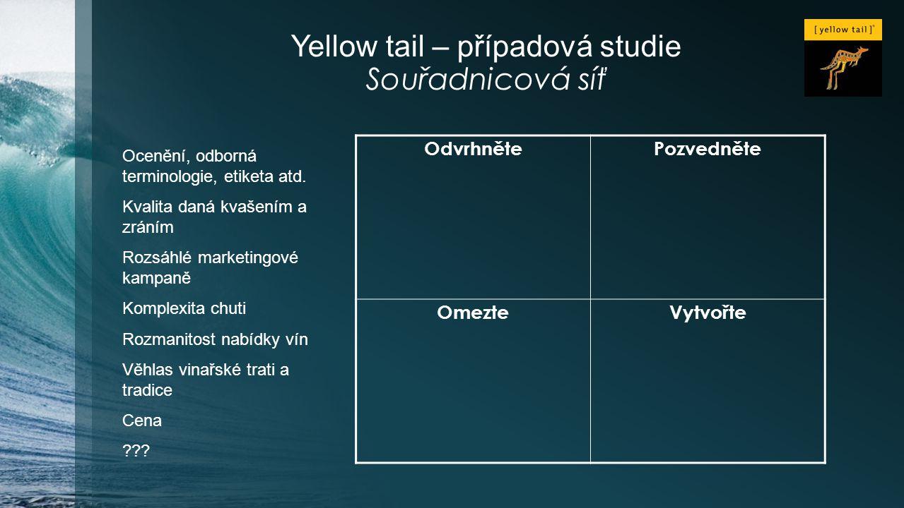Yellow tail – případová studie Souřadnicová síť