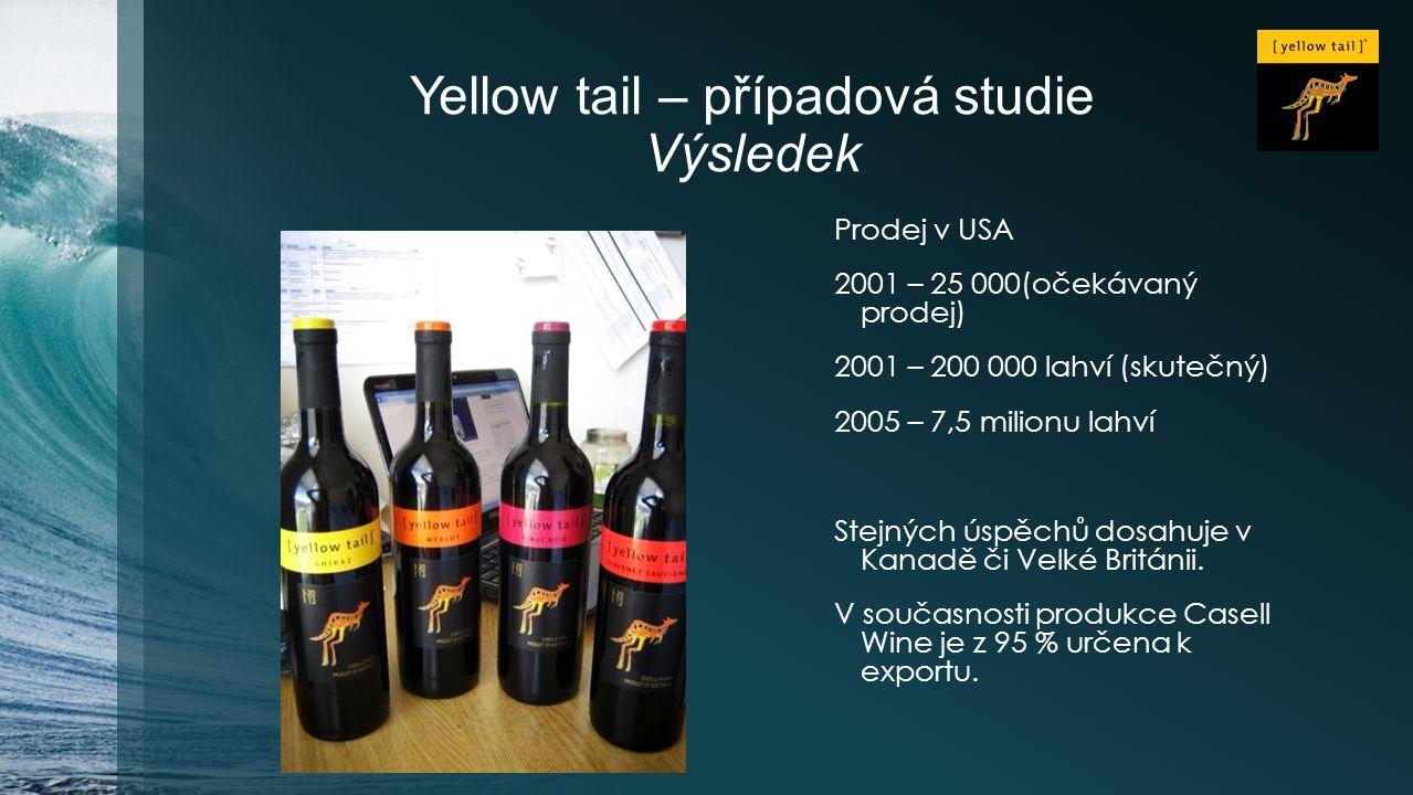 Yellow tail – případová studie Výsledek
