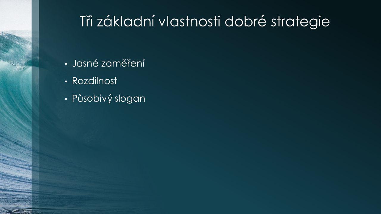 Tři základní vlastnosti dobré strategie