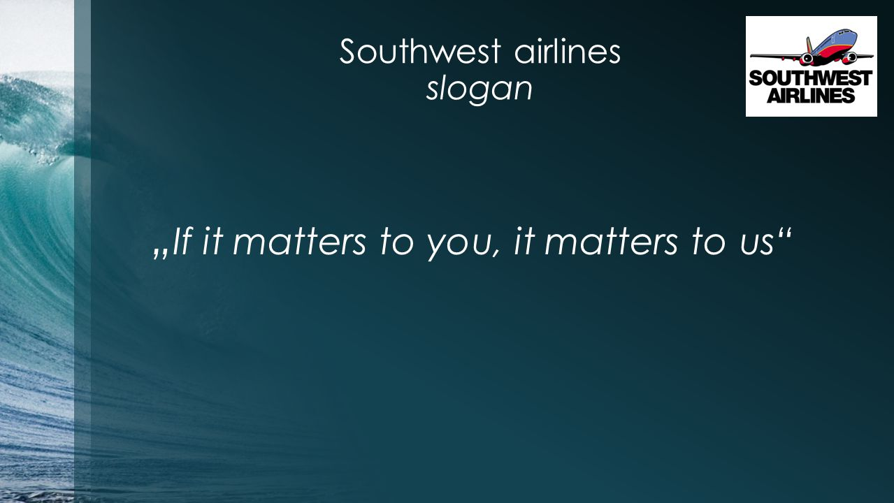 Southwest airlines slogan