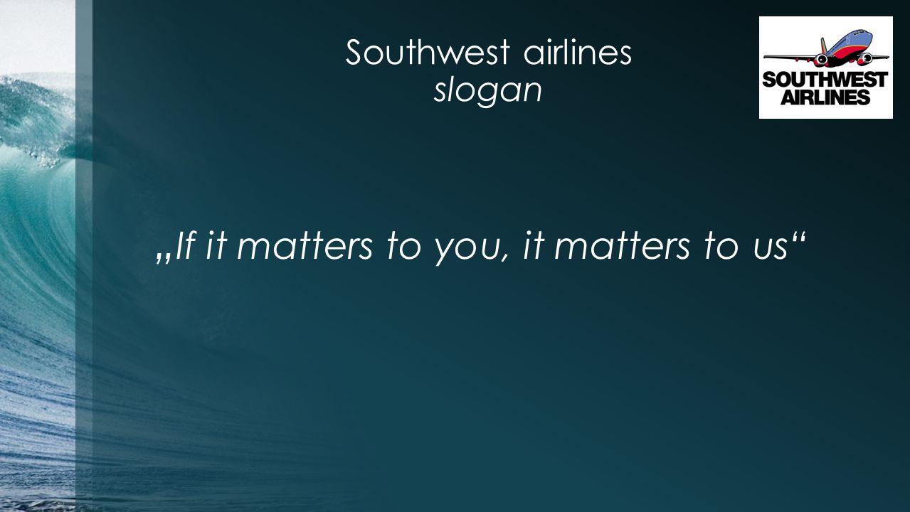 Southwest airlines slogan