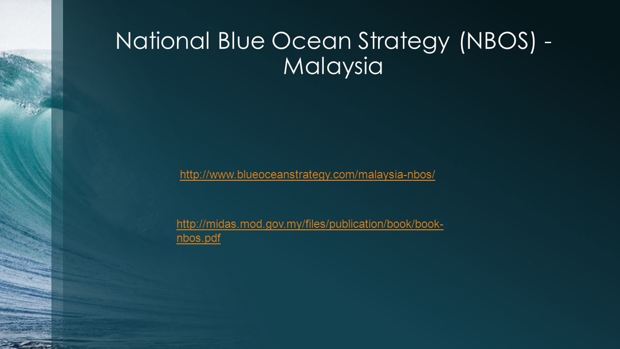 National Blue Ocean Strategy (NBOS) - Malaysia