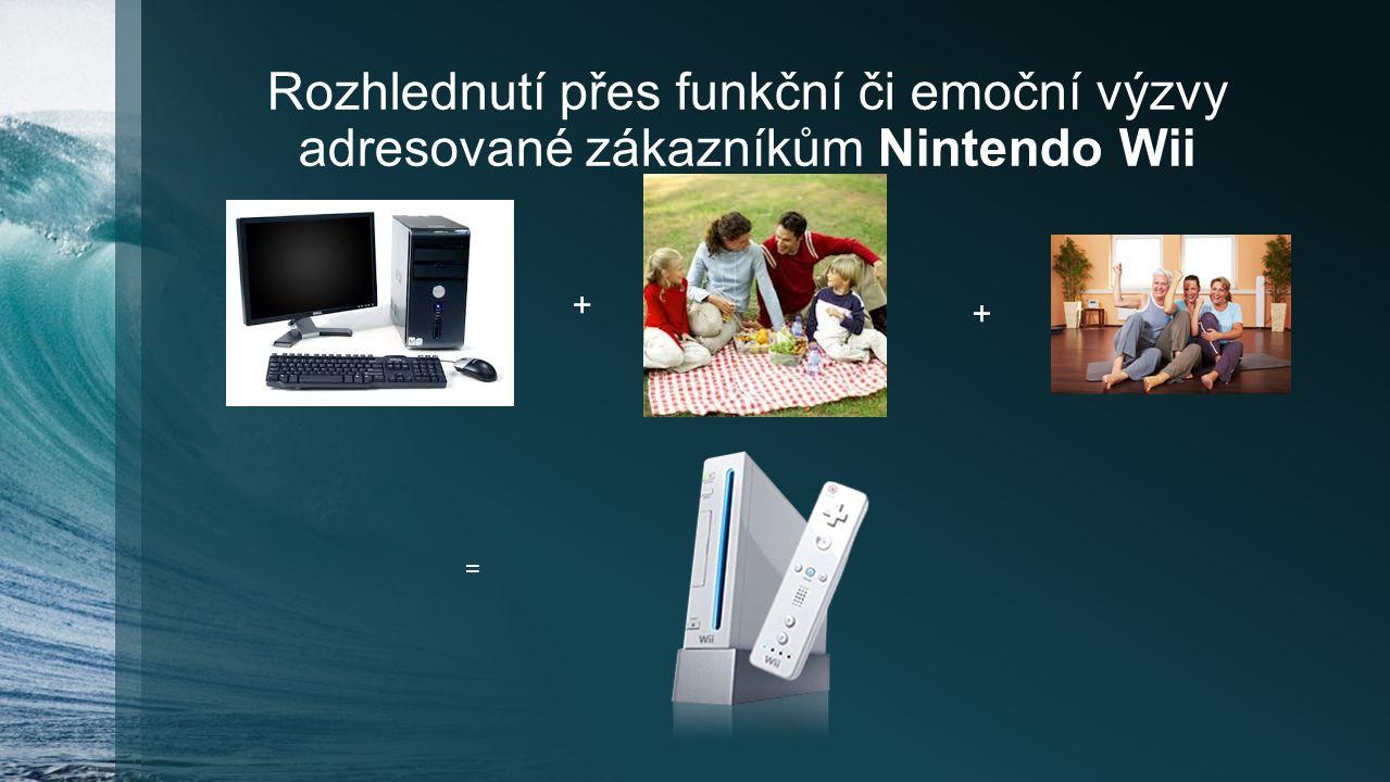 Rozhlednutí přes funkční či emoční výzvy adresované zákazníkům Nintendo Wii