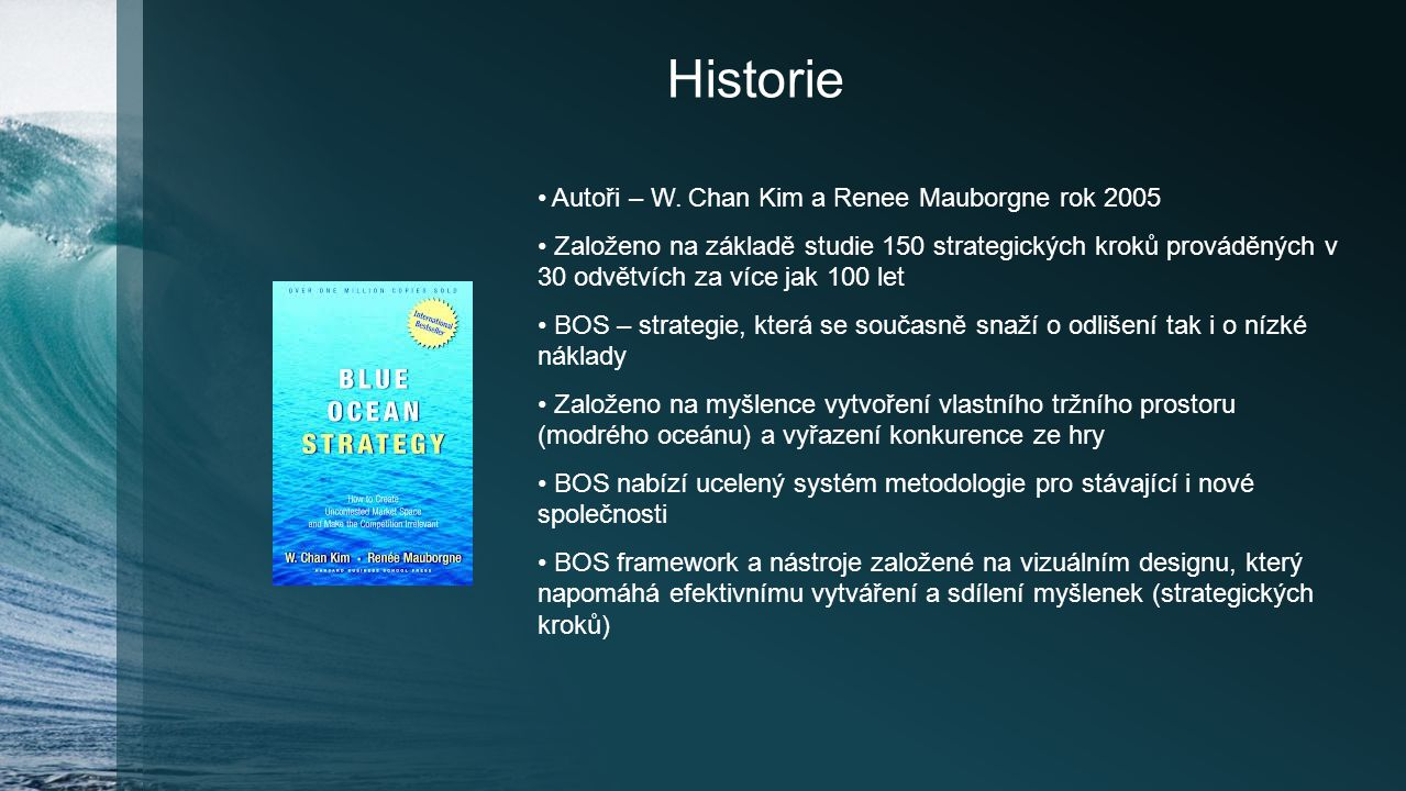Historie Autoři – W. Chan Kim a Renee Mauborgne rok 2005
