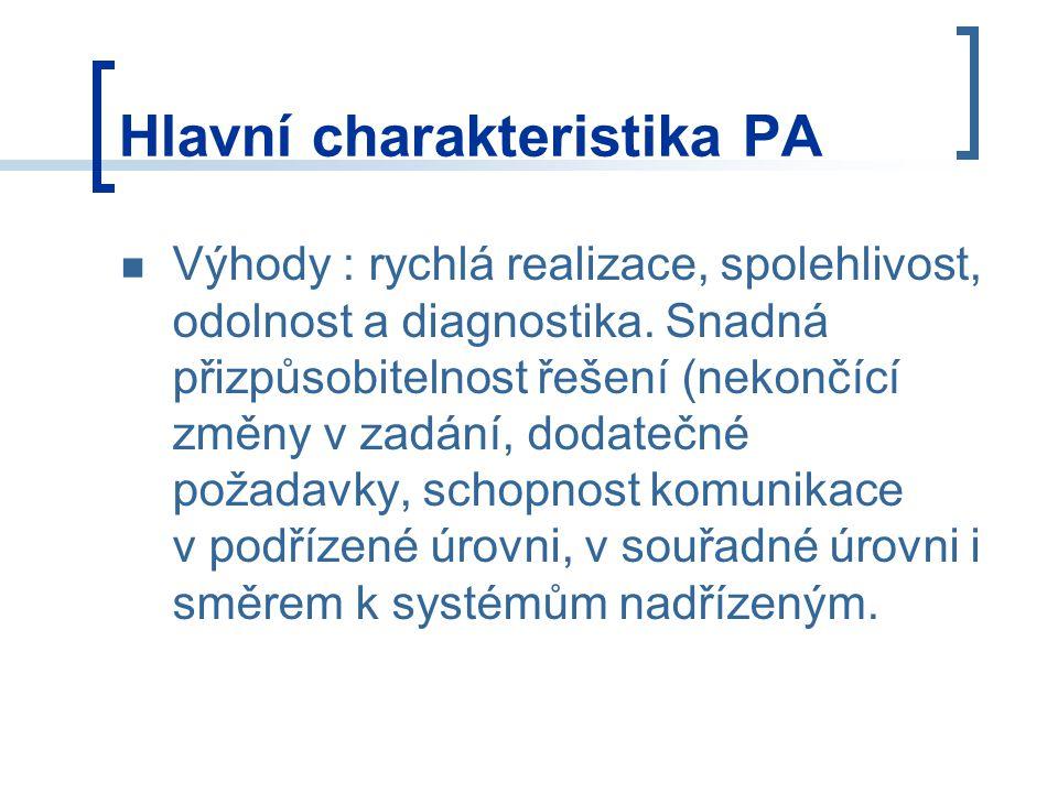 Hlavní charakteristika PA