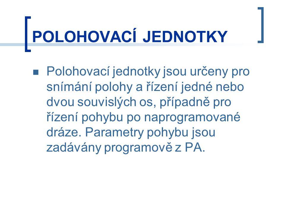 POLOHOVACÍ JEDNOTKY