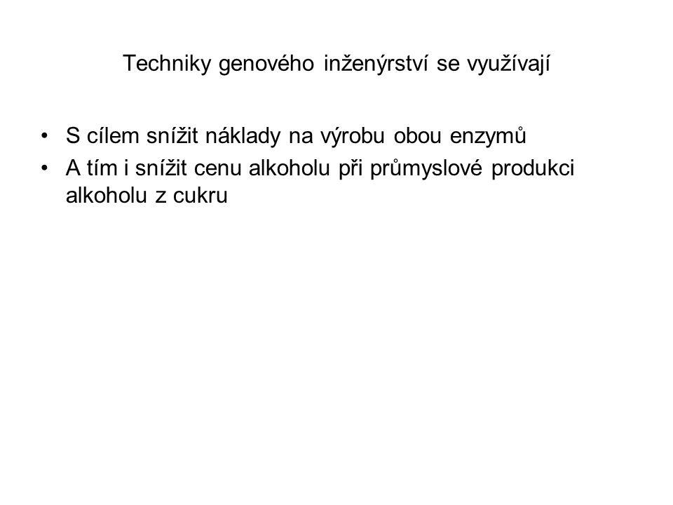 Techniky genového inženýrství se využívají
