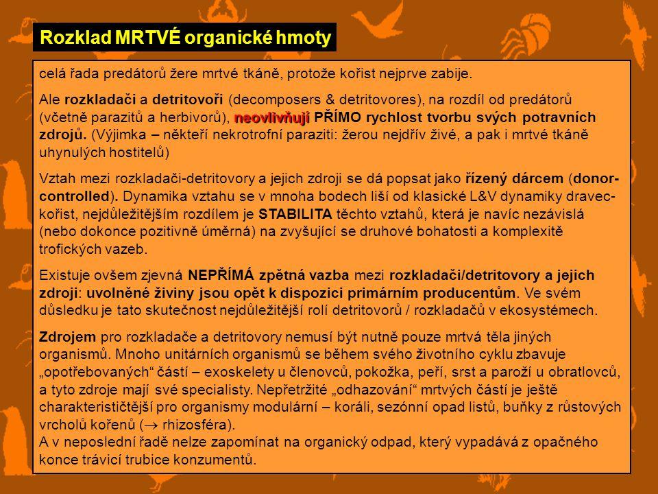 Rozklad MRTVÉ organické hmoty