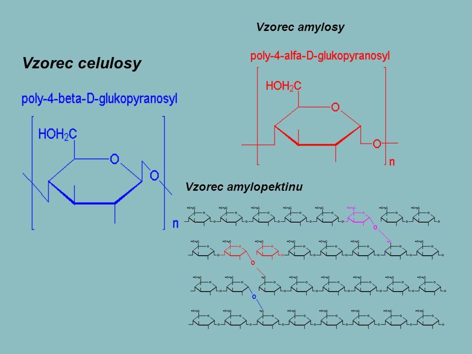 Vzorec amylosy Vzorec celulosy