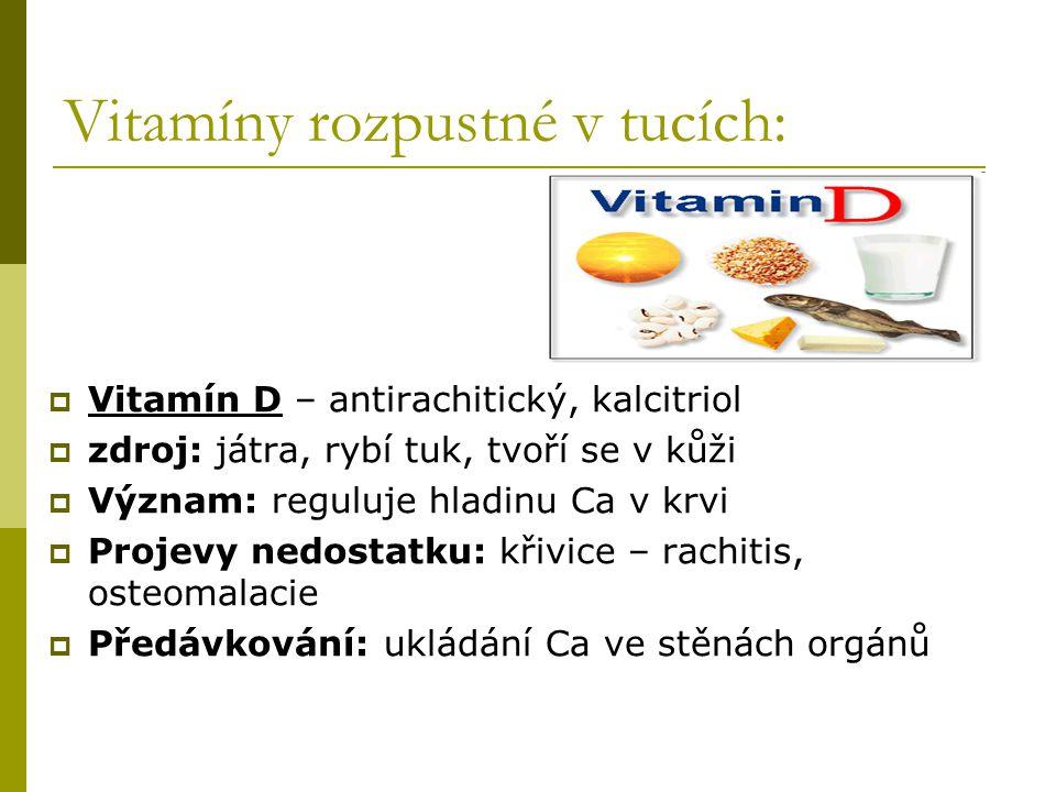 Vitamíny rozpustné v tucích: